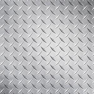 .025 aluminum checkerplate in silver