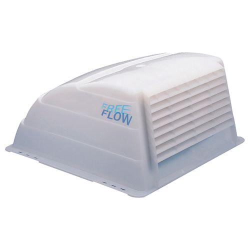 white roof vent cover with screen