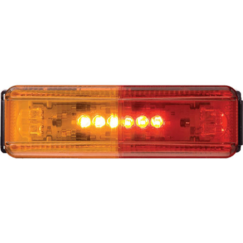 trailer fender lights with red and amber lens