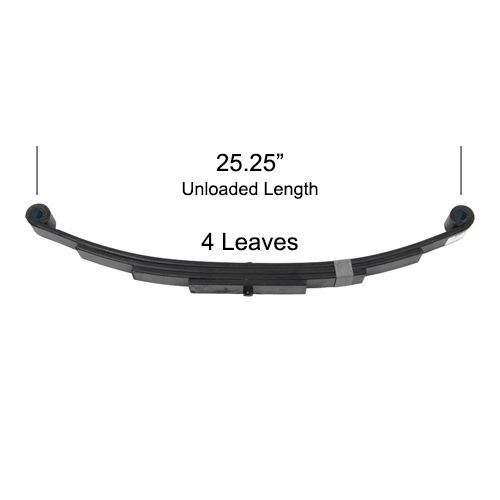 "leaf spring 25.25"" for 3500 lbs trailer axle"