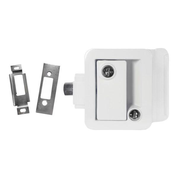 white rv door lock