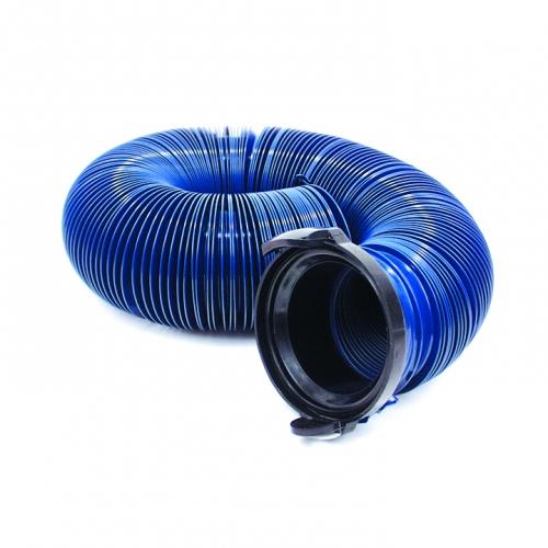 10' quick drain blue sewer hose
