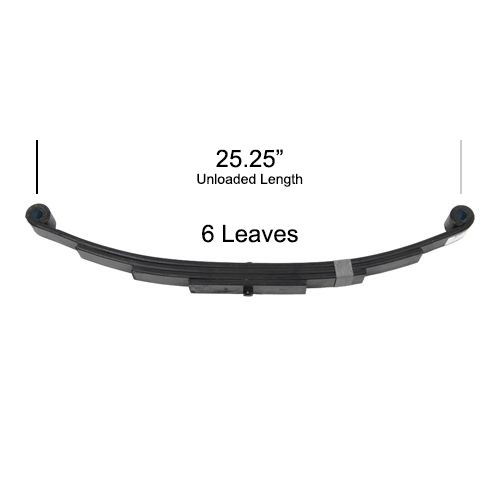 """25.25"""" leaf spring for 7000 lbs axles"""