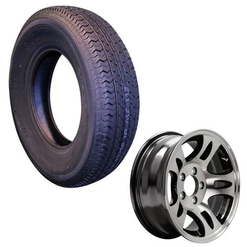 """st205/75r15 sonoran tire on 15"""" aluminum rim"""