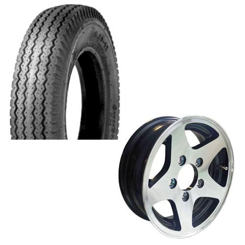 5.30-12 tire on 5 bolt aluminum GLS trailer rim