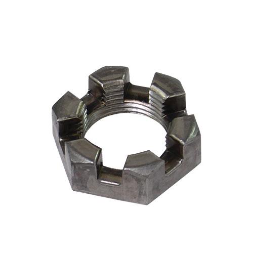 steel castle nut for most trailer axles