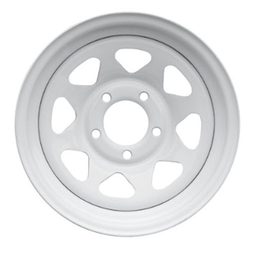 White Spoke Trailer Rims